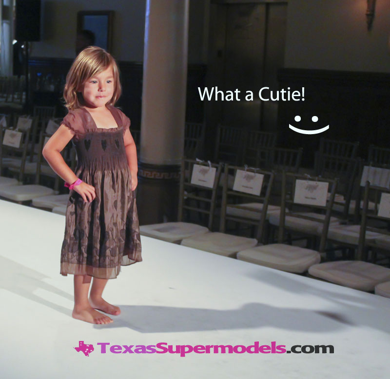 young model playing runway model Texas
